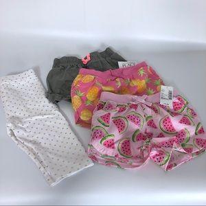 Toddler Girl 24 months / 2T lot shorts capris
